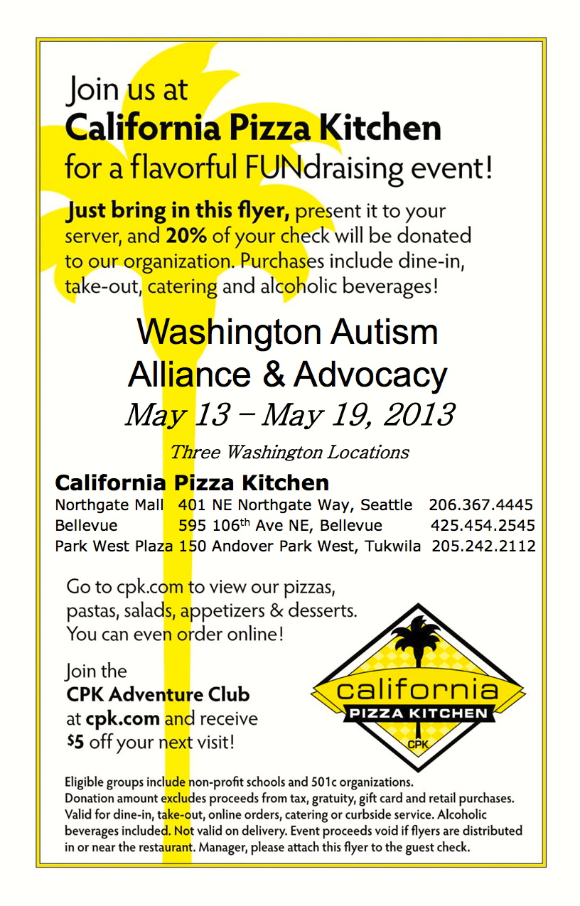 Flavorful FUNdraising event! May 13-May 19th, California Pizza ...